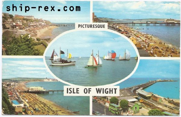 Isle Of Wight, multi-view postcard (a)